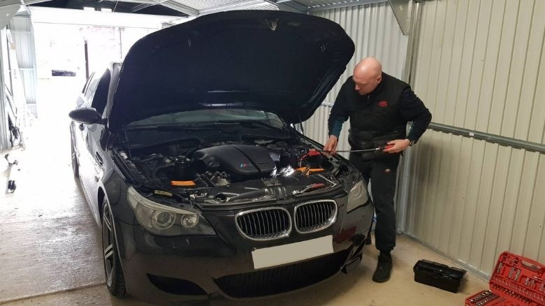 Preventative maintenance on a BMW