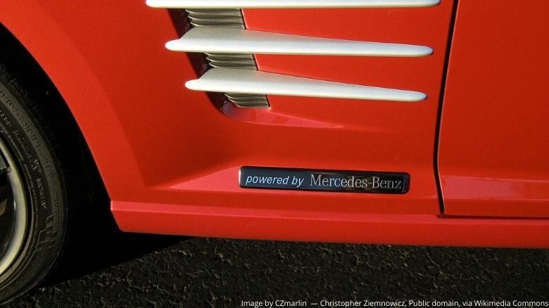 Chrysler Crossfire with Mercedes badge