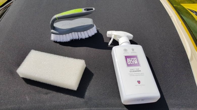 Convertible cleaner brush and sponge
