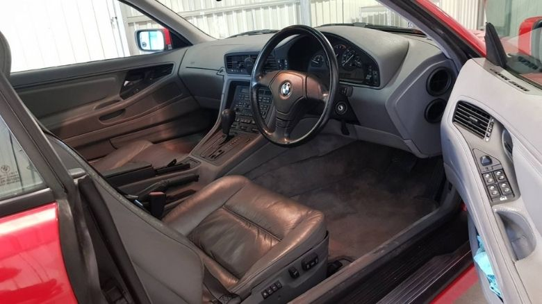 BMW 840 front seats