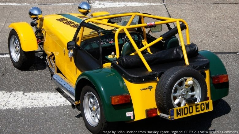 Caterham Seven with racing rollover protection