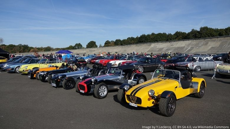 Caterhams at an event