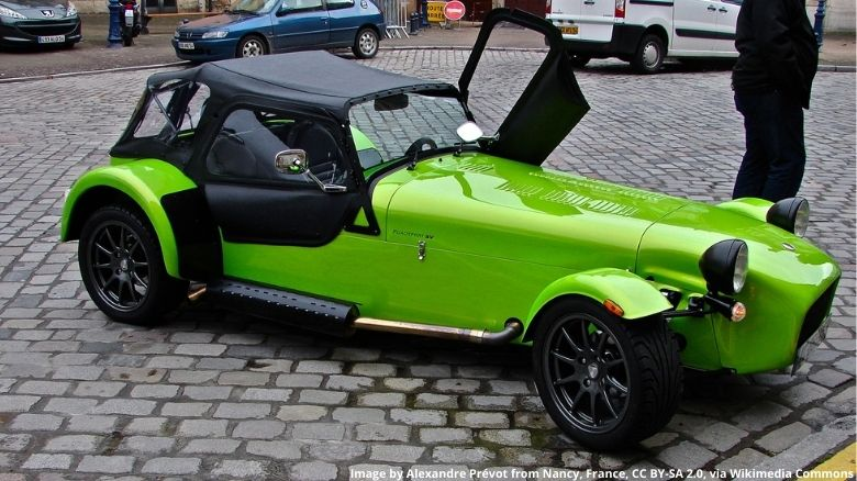 Caterham with hood up