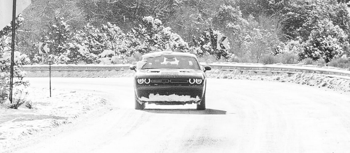 A Dodge in snowy conditions