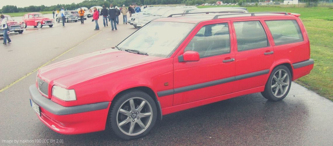 A red Volvo 850R